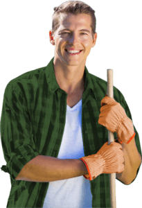 Man Holding Stick